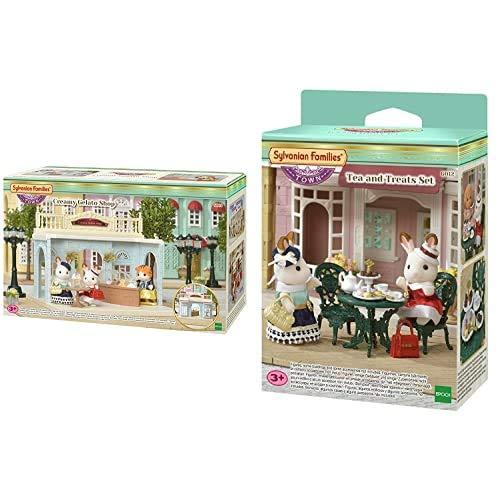 Sylvanian Families- Creamy Gelato Shop Mini muñecas y Accesorios, Multicolor (Epoch para Imaginar) , Color/Modelo Surtido + - 6005 - Set de farola