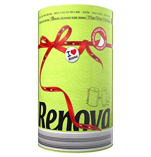 Renova Red Kitchen Paper Rot, Label grün, dreifache Rolle für die Küche