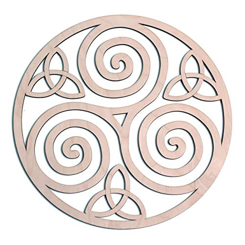 Triskelion Celtic Knot, Triskele Knot Wooden Wall Art 12', Celtic Art, I Irish Symbols,Celtic Triple Spiral, Celtic Decor, Irish Wall Art, Triple Helix Spiral, Fourth Level Mfg. Designs