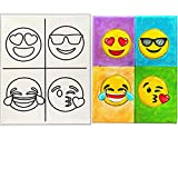 11 x 14 Canvas Painting | Custom Emoji Theme Pre Drawn Stretched Canvas | Birthday Gift | Kids Paint Party Favor | DIY PARTY