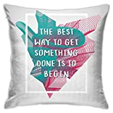 XCNGG The Best Way Inspirational Quote Throw Pillow Case Decorativo para el hogar para la Sala de Estar Dormitorio Sofá Silla 18X18 Pulgadas Funda de Almohada 45X45cm