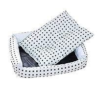 洗える寝袋水玉バスケット犬用ベッド冬暖かく快適な大型リクライニングチェアケンネルソフトクッションビッグドッグ-グレー_M