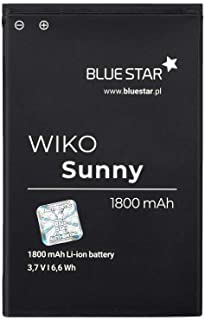 Blue Star Premium - Batería de Li-Ion litio 1800 mAh de Capacidad Carga Rapida 2.0 Compatible con el Wiko Sunny