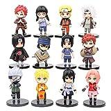 12 Pcs Naruto Ninja Collection Toy Set Action Figures NARUTO Anime Party Favor Supplies