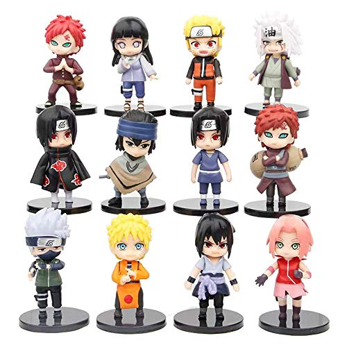 12 Pcs Naruto Ninja Collection Toy Set Action Figures NARUTO Anime Party Favor Supplies