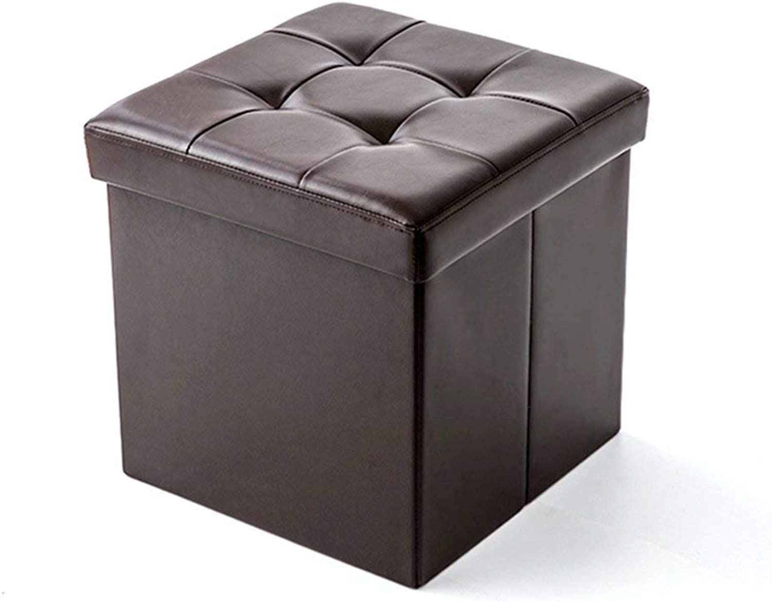 ChenDz Cute Stool Multi-Purpose shoes Bench Creative Storage Box can sit Adult Sofa Bench Square Storage Stool Home Storage Cabinet (color   Brown)