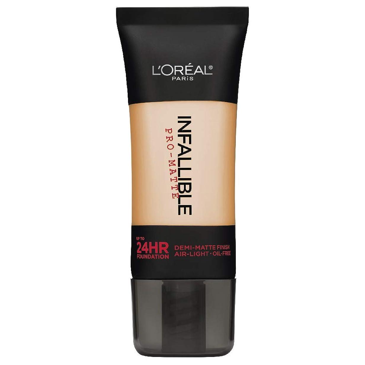 カテナ読み書きのできない相互接続L'Oreal Paris Infallible Pro-Matte Foundation Makeup, 104 Golden Beige, 1 fl. oz[並行輸入品]
