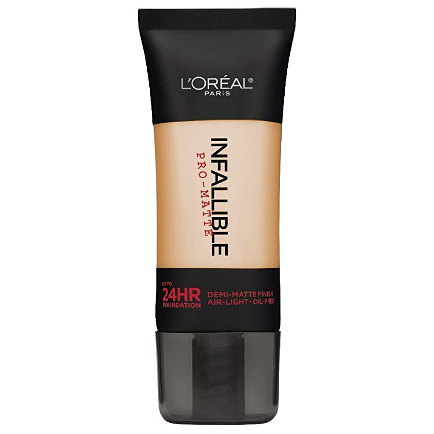 ありふれたハイランドスチールL'Oreal Paris Infallible Pro-Matte Foundation Makeup, 104 Golden Beige, 1 fl. oz[並行輸入品]