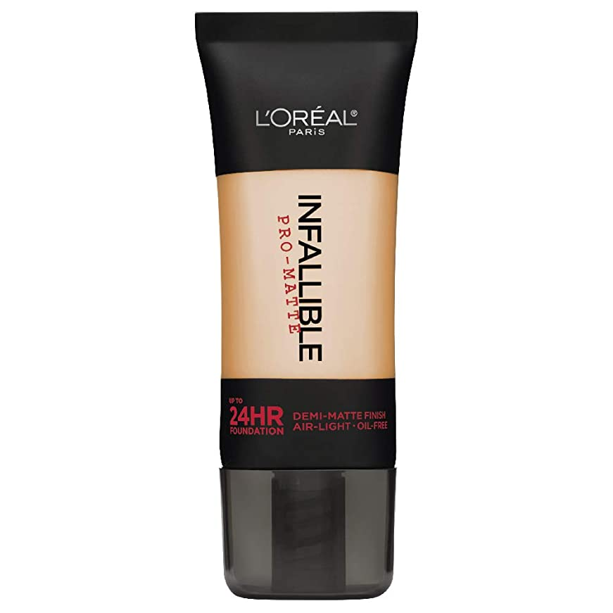 平らなロマンスグリーンバックL'Oreal Paris Infallible Pro-Matte Foundation Makeup, 104 Golden Beige, 1 fl. oz[並行輸入品]