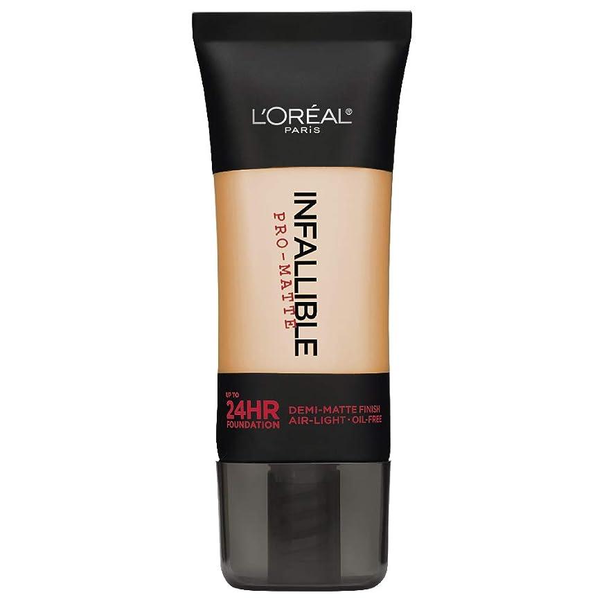 マインドフル無意識後方L'Oreal Paris Infallible Pro-Matte Foundation Makeup, 104 Golden Beige, 1 fl. oz[並行輸入品]