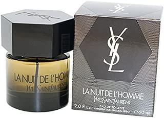 Yves Saint Laurent L'Homme La Nuit De L'Homme Eau de Toilette Spray for Men, 2.0 Ounce
