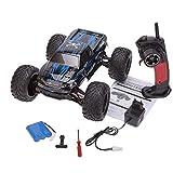 s-idee® Coche teledirigido 18294 9115, impermeable, monstruo truck 1:12 con 2,4 GHz más de 40 km/h, rápido, manejable, totalmente proporcional 2WD RC Buggy Racing Auto