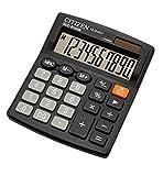 Calculadora Citizen SDC810 Verde 10 dígitos Azul marino Oficina Calculadora de escritorio Batería Dual Power Solar y batería, negro