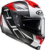 HJC RPHA 70 VIAS MC1SF Motorcycle Helmet, Black/White/Red, Size S