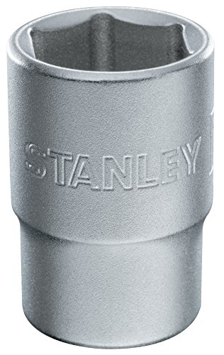 Stanley Steckschlüssel (6-Kant, 1/2 Zoll, 19 mm, 38 mm Länge, metrisch, Chrom-Vanadium Stahl, Maxi-Drive Profil) 1-17-097