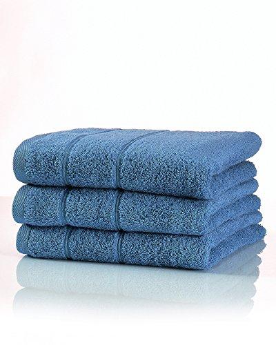 myHomery Handtuch Set bestehend aus Gästehandtücher, Duschtuch, Saunatuch und Badetuch - Saunahandtuch XXL - Handtücher Navy Blau | 3er-Set Handtuch