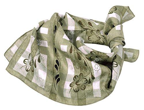 Moschen-Bayern Trachtenhalstuch Trachtentuch Halstuch Trachten Damen Herren Nickituch zum Oktoberfest Bayern Seide Tuch Seidentuch Grün
