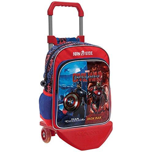Marvel 26423M1 Civil War Mochila Escolar, 15.6 litros, Color Rojo