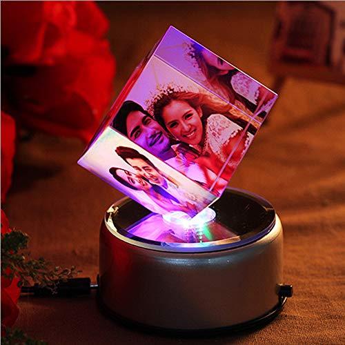 Junmei Benutzerdefinierte 3D Crystal Photo Cube personalisierte Gravur Laser Radierung Bild in Crystal Hochzeit & Geburtstagsgeschenke - Free Custom Made 3 Bild