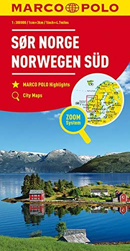 MARCO POLO Regiokarte N Norwegen Süd 1:325 000 (MARCO POLO Länderkarten)