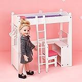 Puppen-Etagenbett Schreibtisch Puppenzubehör Spielzeug Olivias World TD-0204A -
