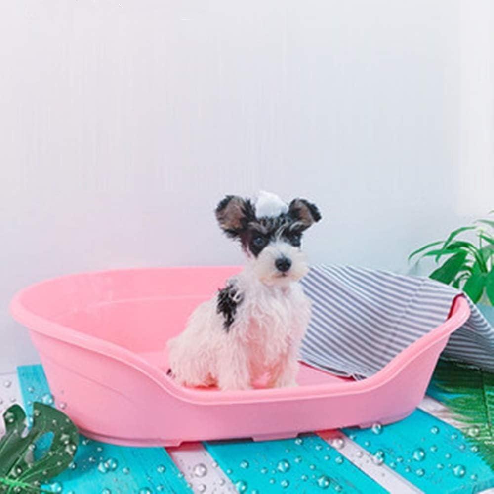 QiHaoHeji Piscina portátil para Perros Fuentes del baño del baño del Perro doméstico del Gato de hidromasaje Bañera de Peluche pequeño Perrito Perro Barril del baño de Barril for Mascotas