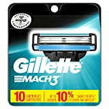 Gillette Mach3 Men's Razor Blade Refills, Men's Razors/Blades, 10 Count (Packaging May vary) (47400313088)