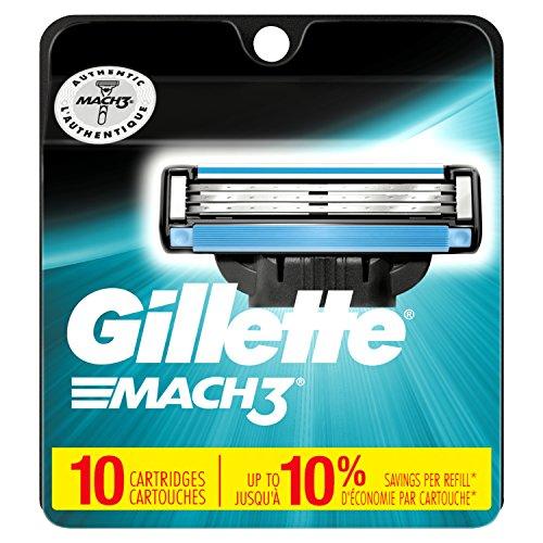 Gillette Mach3 Men's Razor Blades 10-Count Now $11.38 (Was $28.99)