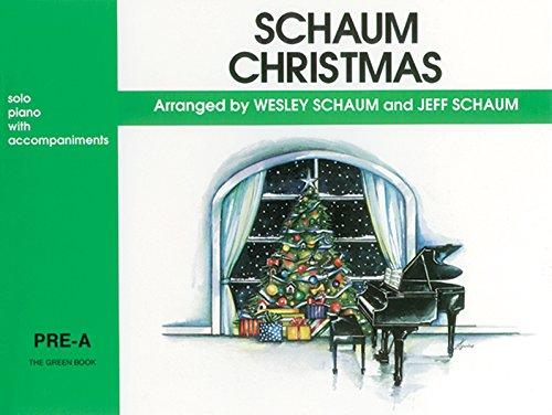 Schaum Christmas: Pre-A -- The Green Book (PIANO)