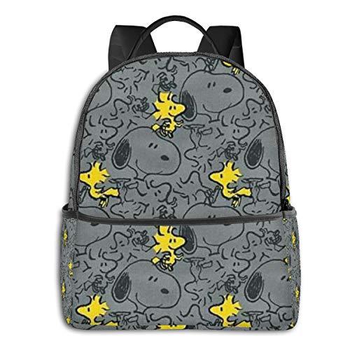 Snoopy - Mochila unisex con dibujos animados para colegio, 36,8 x 30,5 x 12,7 cm