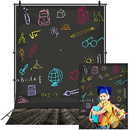 Leowefowa 5X7FT Vinyl National uniform free shipping Photography Backdrop Back Blackb School Direct stock discount to