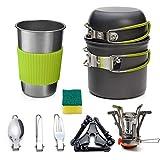 Utensilios Cocina Camping Kit, Cocina Camping con Plegable para Ahorrar Espacio para Cámping