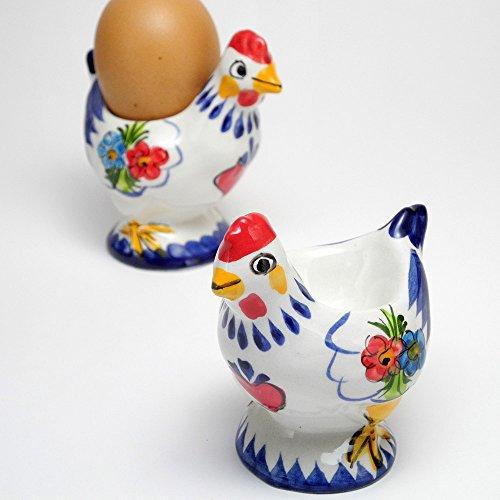 ポルトガル製 陶器 Sサイズ エッグスタンド ゆで卵 幸せを呼ぶ バルセロスのおんどり たまご立て pif-612ch 【! ! ! ご注意! ! ! 】ヨーロッパの卵は日本の物よりかなり小さ目です。必ずSサイズの卵でお使いください, ブルー
