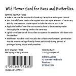 Britten and James Wildflower Seeds Twin Pack for Bees and Butterflies from The RHS Perfect for Pollinators List. Over 1,000 Seeds in Each. Fresh Seed for high Germination. A Great Gardeners Gift.