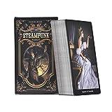 Las Cartas De Tarot Steampunk, 78PCS Cartas De Juego De Mesa De Tarot para Fiesta De Reunión Familiar