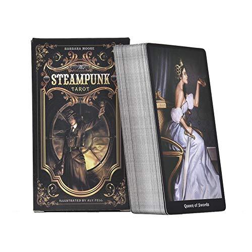 78 Tarotkarten Das Steampunk Tarot Alte Weissagungswerkzeuge Tarot Kartenspiele Für Familienfeiern, Mit Buntem Karton Und Reiseführer, Englische Version