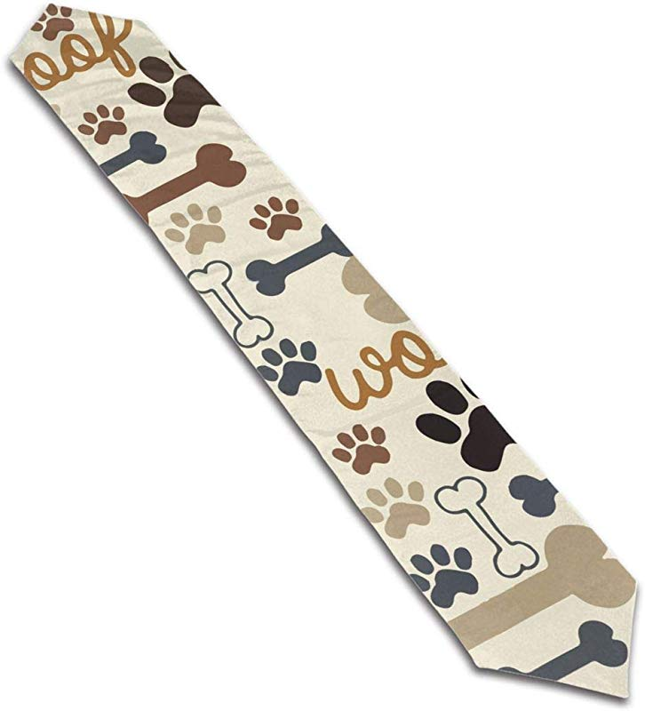 DESEEVI Dog Paw Prints Bones Table Runner For Home Decorative Coffee Dresser Dinner Parties Events 13x70 Inch