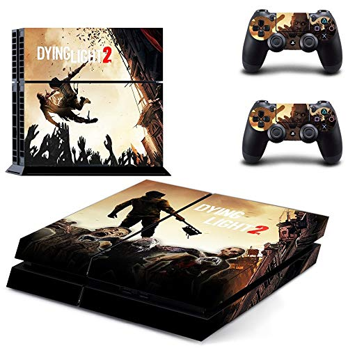 TAOSENG Game Dying Light 2 Ps4 Skin Sticker Decal per Playstation 4 Console e 2 Controller Skin Ps4 Sticker Vinile Accessorio