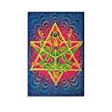Chakra Poster Merkaba Meditation, Malerei, Fluoreszierende