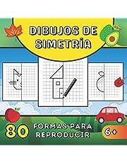 Dibujos de simetría: 80 formas geométricas objetos simples y animales para reproducir con la cuadrícula - Diseno simetrico - Libro de colorear para ... pequeños   libro aprender a dibujar   REGALO