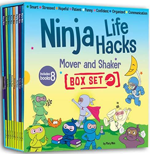 Ninja Life Hacks Mover and Shaker 8 Book Box Set (Books 25-32: Patient, Organized, Smart, Confident, Stressed, Hopeful, Communication, Funny)