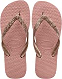 Havaianas Women's Top Tiras Flip Flop Sandal, Rose Nude, 7/8 M US