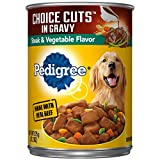 Pedigree Choice Cuts In Gravy Steak & Vegetable Flavor Adult Canned Wet Dog Food, (12) 13.2 Oz. Cans