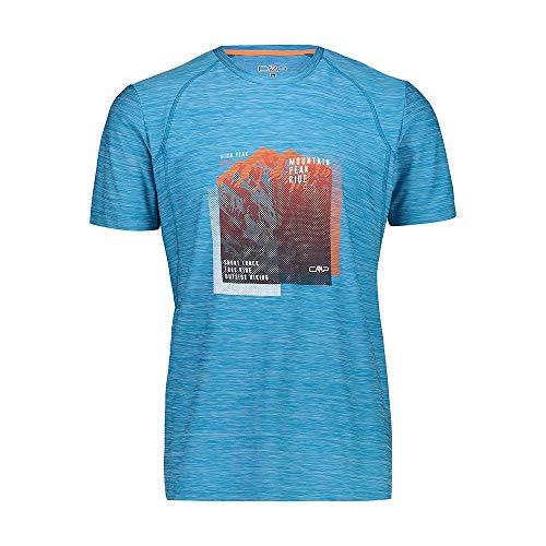 CMP – F.lli Campagnolo Herren Elastisches Melange T-Shirt mit Sonnenschutz UPF 40, Rif Mel, 50, 39T6547