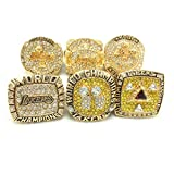 XXJJ Laker Kobe Full Replica Basketball Championship Ring, Men's Awards Custom Fan Collection Ring Belt Display Wooden Box 10-12 10