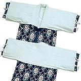 メーカー直販 かいまき衿カバー寒い季節暖かな衿元綿フラノ生地肌触り柔らか130×45cm ブルー