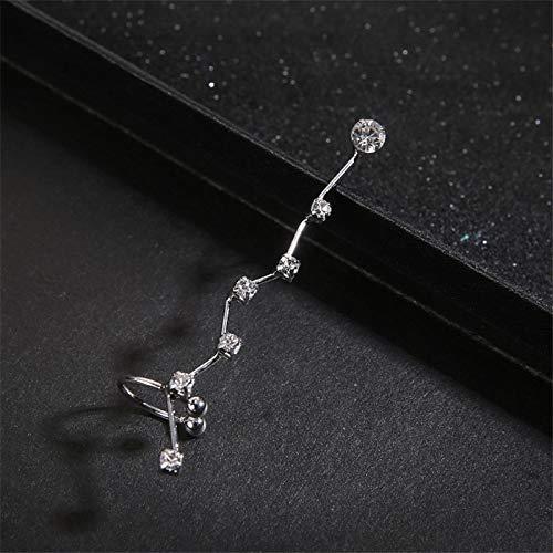Burenqi Oorbel 1 Eenheid Mode Zilver Goud Kristal Oor Manchet Piercing Clip Op Oorbellen Bedel Sieraden Bijoux Clip Voor Vrouwen
