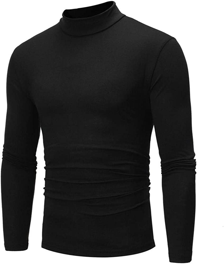 Men's Sweatshirts Clearance, F_Gotal Mens Casual Long Sleeve Solid Color Turtleneck Sports Outwear Hooded Sweatshirts