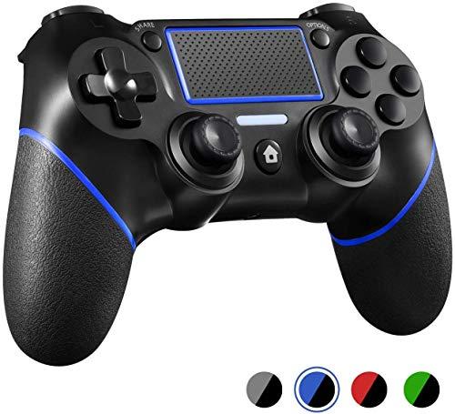 Controlador PS4 mando de juego Bluetooth inalámbrico Dualshock Gamepad para Playstation 4 Touch Panel Joypad con doble vibración, modo inmediato para compartir el joystick