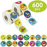 good job stickers for kids - 600 Animal Teacher Reward Encouragement Motivational Sticker in 16 Designs (Expanded Version with 1.5